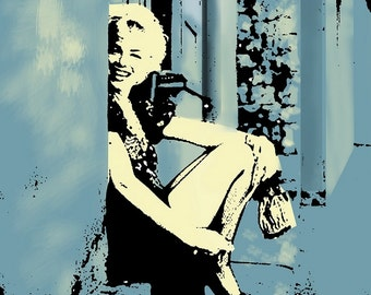 Peekaboo Marilyn Fine Art Lithograph Hand Pulled