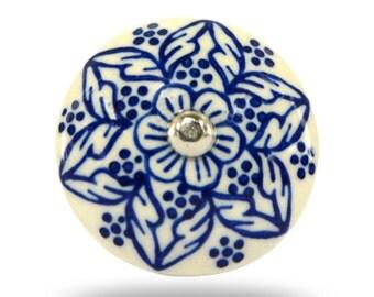 Unique Tessellate Ceramic Knob Vintage Round Decorative