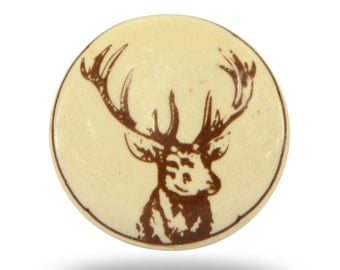 deer themed decorative door knob for a cabin office or bedroom stag cabinet hardware