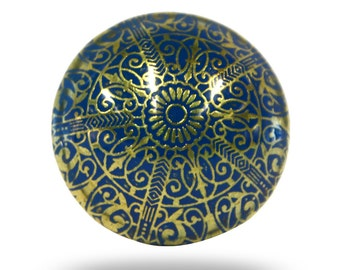 Unique Etched Metal Door Knob to Upcycle your Furniture, Update your Cabinets, Cupboards and Dresser Drawers with this Decorative Hardware