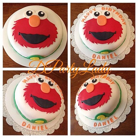 Custom Character Fondant Cake Toppers Elmo Abby Sesame Street