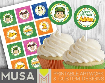 El Chavo Printable Cupcake Toppers - Customized toppers / labels / tags
