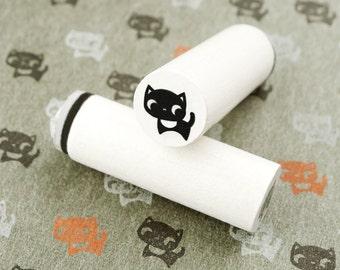 Black Cat - mini stamps/Lüttje stamp Ø 1,1 cm