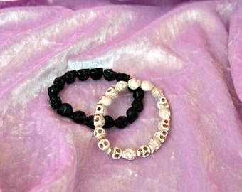 Small Skull Stretchy Bracelet