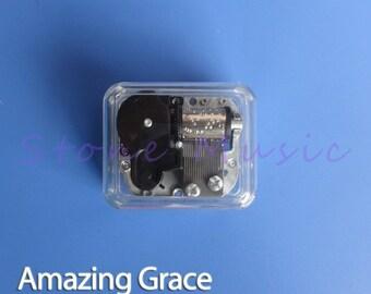 Mechanical Wind Up Music Box Melody Amazing Grace