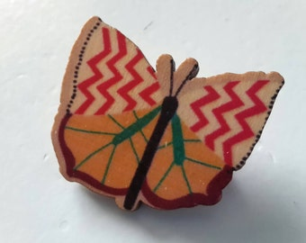 Butterfly brooch wood