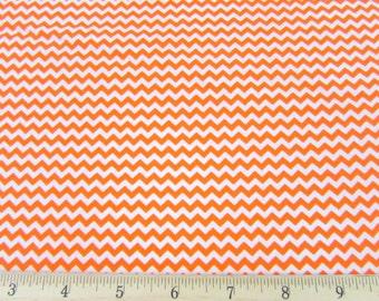 Mini Chevron Orange Fabric By the Yard