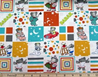 Babar Blocks Fabric From Camalot