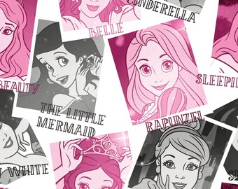 Per Yard, KNIT Disney Princess Pictures Fabric From Springs Creative