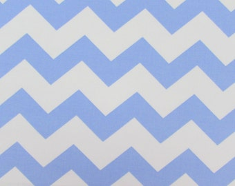 "1"" Light Blue Chevron Fabric"