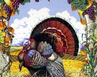 Harvest Turkey Fabric Panel
