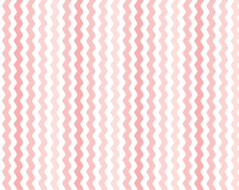 Per Yard, Sorbet Carnation Pink Rick Rack Fabric From Quilting Treasures