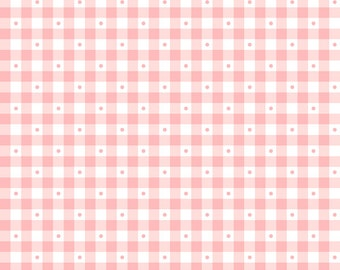 Per Yard, Sorbet Carnation Pink Gingham Fabric From Quilting Treasures