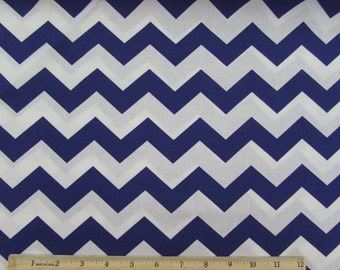 "Per Yard, 1"" Deep Purple Chevron Fabric"