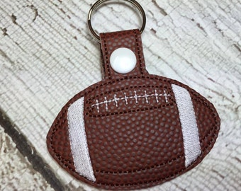 Football - In The Hoop - Snap/Rivet Key Fob - DIGITAL Embroidery Design