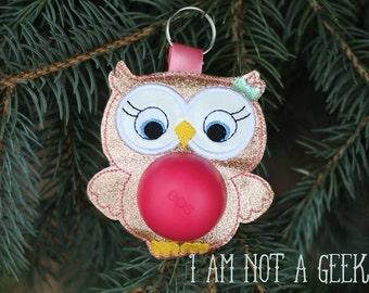 ITH Owl Sphere/Egg Lip Balm Holder - Lip Gloss - 4 x 4 - DIGITAL Embroidery Design