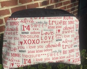 Be Mine 9 inch Zipper Bag