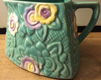 Gorgeous green vintage jug by Shorter 30s