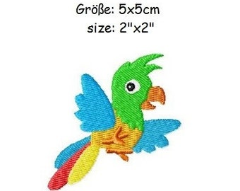 Embroidery Design Parrot 2'x2' - DIGITAL DOWNLOAD PRODUCT