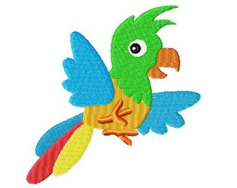 Embroidery Design Parrot 4'x4' - DIGITAL DOWNLOAD PRODUCT