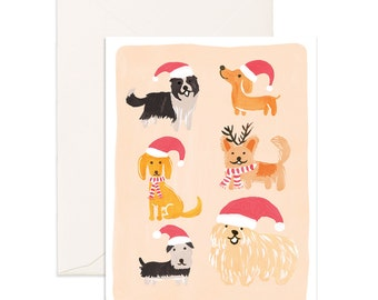 Christmas Dogs Greeting Card