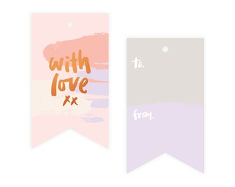 With Love Copper Foil Gift Tag Pack