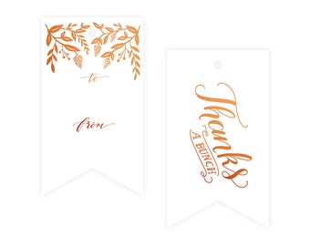 Classic Copper Foil Gift Tag Pack