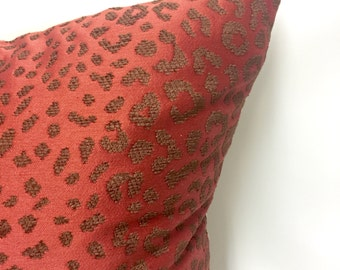 Red Spotted Pillow Cover