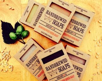Beer Soap Gift Set - A Six Pack Sampler of Homebrewed Beer Soap -Father's Day, Gift for Him, Beer Lover, Beer Soap Set, Man Soap, Soap Set