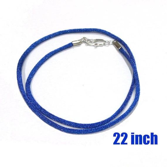 22 inch necklace royal blue necklace 2 mm satin by