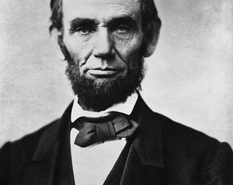 "Abraham_Lincoln, photo, portrait,  Us Presidents  11 X 14""  canvas art print"