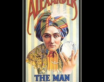 "magician Alexander 11 x 14"" cotton canvas art print magic fantasy"