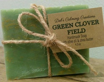 Green Clover Field Soap Bar (Vegan)
