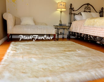 Top Seller Extreme Plush Gold Tip White Polar Bear Best Fur In Stock Luxury  Rug Rectangle