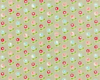 SALE!! 1/2 Yard - Vintage Picnic-Bonnie and Camille - Gray- Moda - Fabric Yardage - 55121-15
