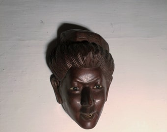 Vintage Italian Handmade Mahogany Sculpture Gift Idea