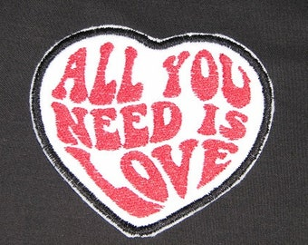 The Beatles All You Need Is Love Iron on No Sew Embroidered Patch Applique