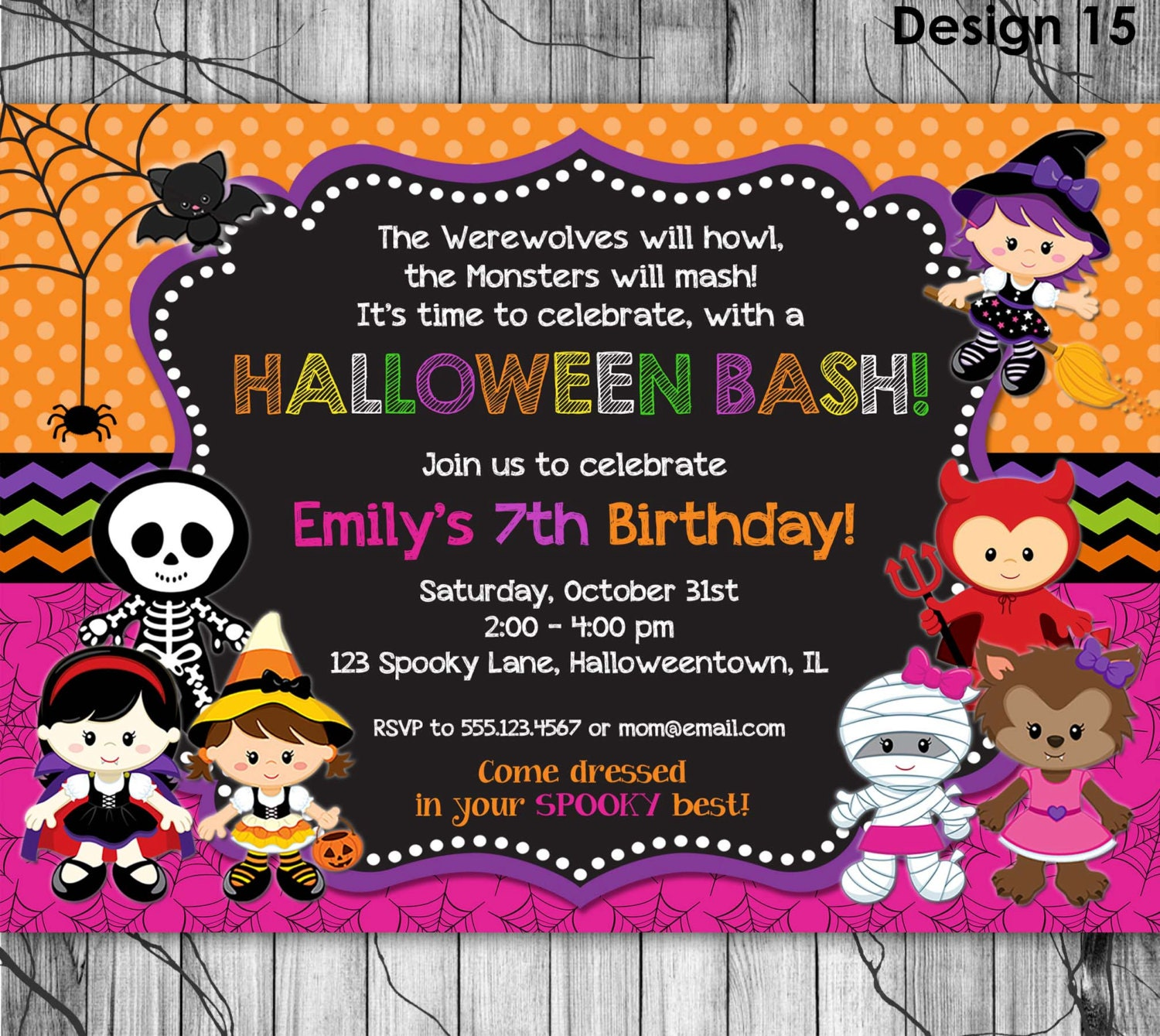 Birthday Party Games Are Hilarious For 8 9 10 11 And 12: HALLOWEEN Birthday Invitation PRINTABLE By KidsPartyPrintables