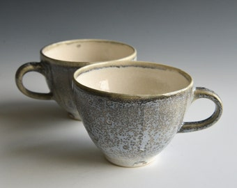 Two teacups handthrown