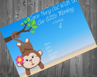 Our Little Monkey Birthday Party Invite