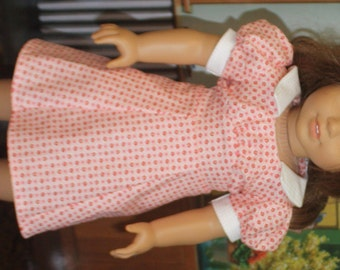 American Girl 1930s A-line Dress in Red