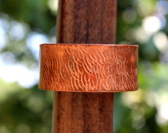 Textured Copper Cuff Bracelet