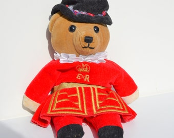 Authentic Britsh Beefeater Teddy Bear from England; Collector EnglishTeddy Bear, Teddy Bear, English Teddy Bear