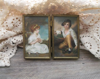 Small Vintage Framed Victorian Children Litho Prints