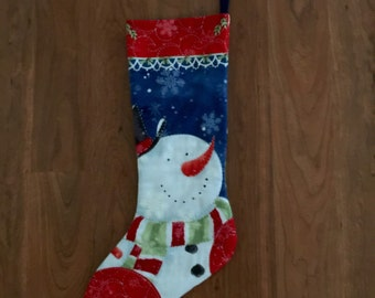 Hand Quilted, Double Sided Stocking