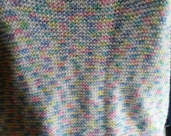 Knit baby blanket, soft acrylic cuddle blanket, 32x32, baby blanket, toddler blanket
