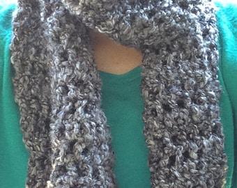 Grey crochet scarf, grey scarf, crochet scarf, woman scarf, girl scarf, grey infinity scarf, grey wrap, grey crochet wrap, infinity scarf