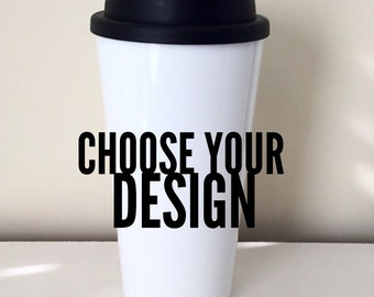 Plastic Travel Mug Etsy