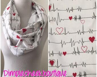 Heartbeat scarf- nurses scarf- nurse
