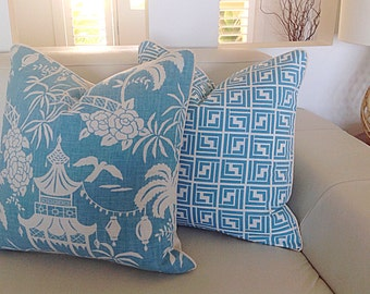 Cushions Linen Pillows, Turquoise Cushions, Pagoda Cushions, Blue Cushions Turquoise Pillows Toss Pillows Cushions. Beach House Cushions